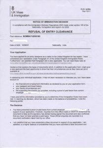 refusal of visa