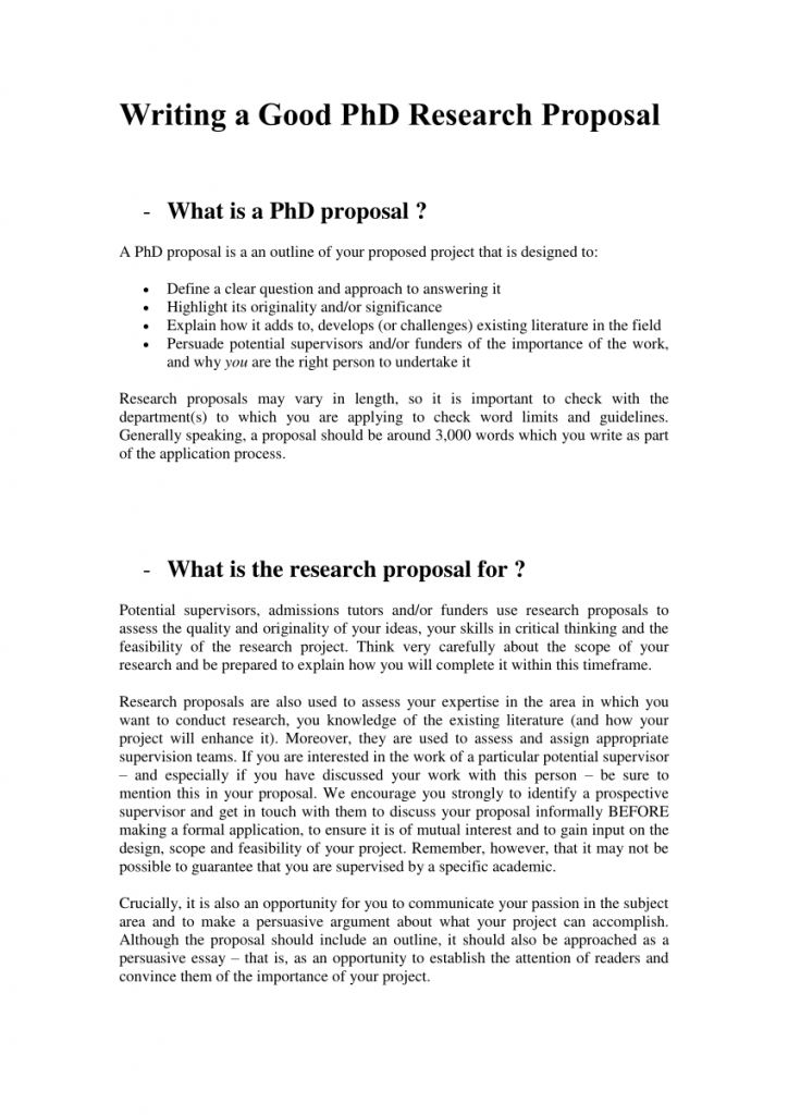 Research proposal phD